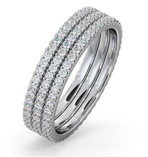 Eternity Ring Erin Diamond 1.50ct and Three Platinum Set