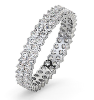 Eternity Ring Jasmine Platinum Diamond 1.00ct G/Vs