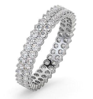 Eternity Ring Jasmine 18K White Gold Diamond 1.00ct H/Si