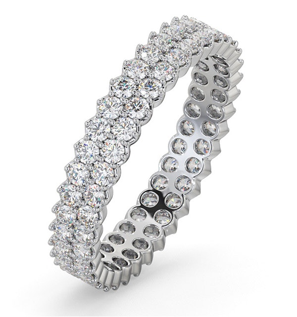 Eternity Ring Jasmine Platinum Diamond 1.00ct G/Vs - image 1