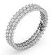 Eternity Ring Jasmine Platinum Diamond 1.00ct G/Vs - image 2