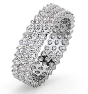 Mens 2ct H/Si Diamond Platinum Full Band Ring