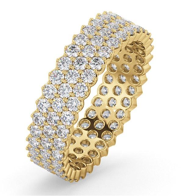 Mens 2ct H/Si Diamond 18K Gold Full Band Ring  IHG30-422JUA - image 1