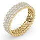 Mens 2ct H/Si Diamond 18K Gold Full Band Ring  IHG30-422JUA - image 2
