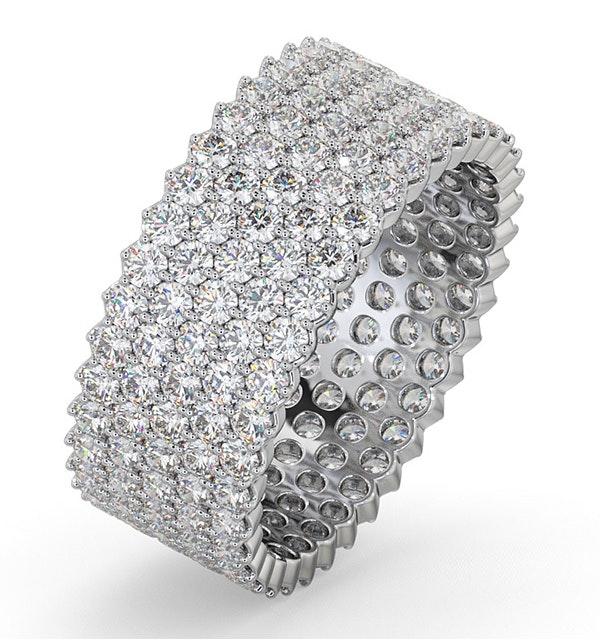Mens 3ct H/Si Diamond Platinum Full Band Ring  IHG30-522JUS - image 1