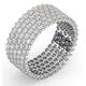 Mens 3ct H/Si Diamond Platinum Full Band Ring  IHG30-522JUS - image 2