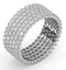 Eternity Ring Jasmine 18K White Gold Diamond 3.00ct G/Vs - image 2