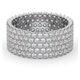 Mens 3ct H/Si Diamond Platinum Full Band Ring  IHG30-522JUS - image 3