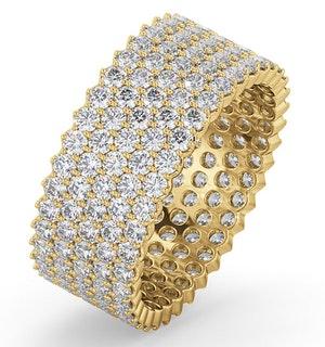 Mens 3ct H/Si Diamond 18K Gold Full Band Ring  IHG30-522JUA