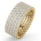 Mens 3ct G/Vs Diamond 18K Gold Full Band Ring  IHG30-522XUA - image 1