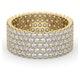 Mens 3ct G/Vs Diamond 18K Gold Full Band Ring  IHG30-522XUA - image 3