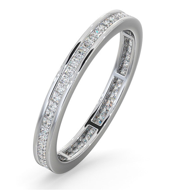 Eternity Ring Lauren 18K White Gold Diamond 0.50ct G/Vs - image 1