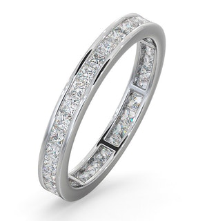 Mens 1ct H/Si Diamond 18K White Gold Full Band Ring  IHG31-322JUY