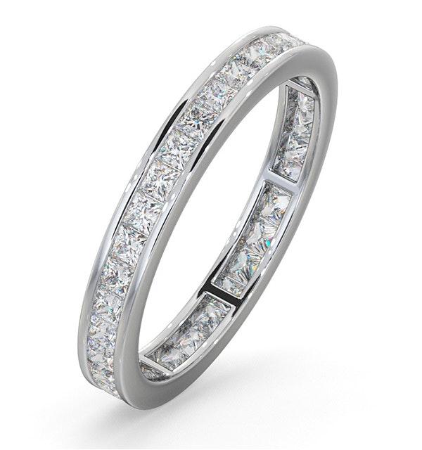 Eternity Ring Lauren 18K White Gold Diamond 1.00ct G/Vs - image 1