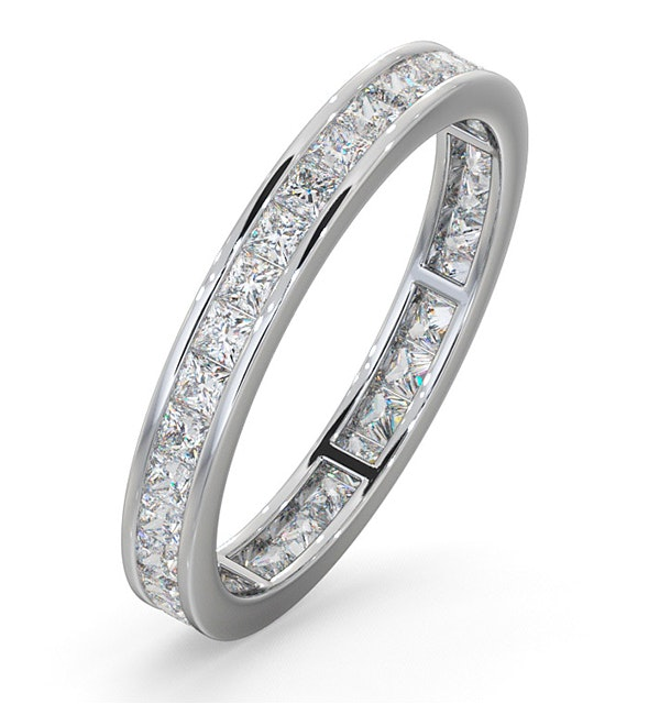 Eternity Ring Lauren Platinum Diamond 1.00ct H/Si - image 1