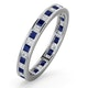Eternity Ring Lauren Diamonds H/SI and Sapphire 1.20CT -18K White Gold - image 1