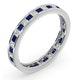 Eternity Ring Lauren Diamonds H/SI and Sapphire 1.20CT -18K White Gold - image 2