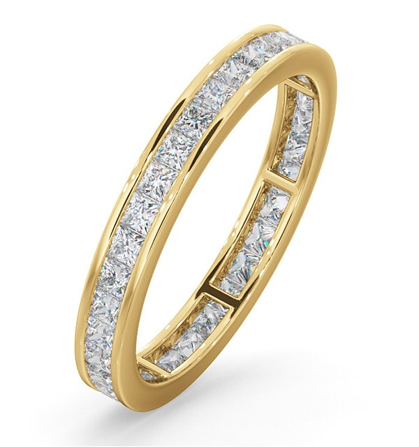 Eternity Ring Lauren 18K Gold Diamond 1.00ct G/Vs - image 1
