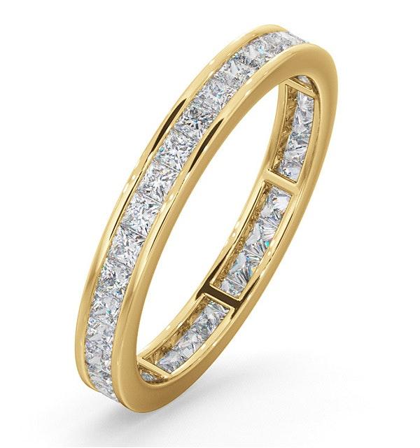 Mens 1ct H/Si Diamond 18K Gold Full Band Ring  IHG31-322JUA - image 1