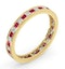 Eternity Ring Lauren Diamonds G/VS and Ruby 1.10CT in 18K Gold - image 2