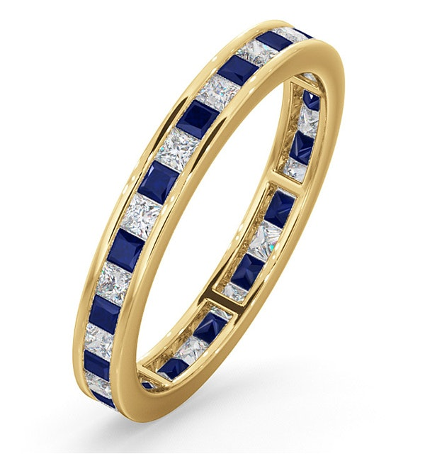 Eternity Ring Lauren Diamonds G/VS and Sapphire 1.20CT in 18K Gold - image 1
