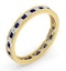 Eternity Ring Lauren Diamonds G/VS and Sapphire 1.20CT in 18K Gold - image 2