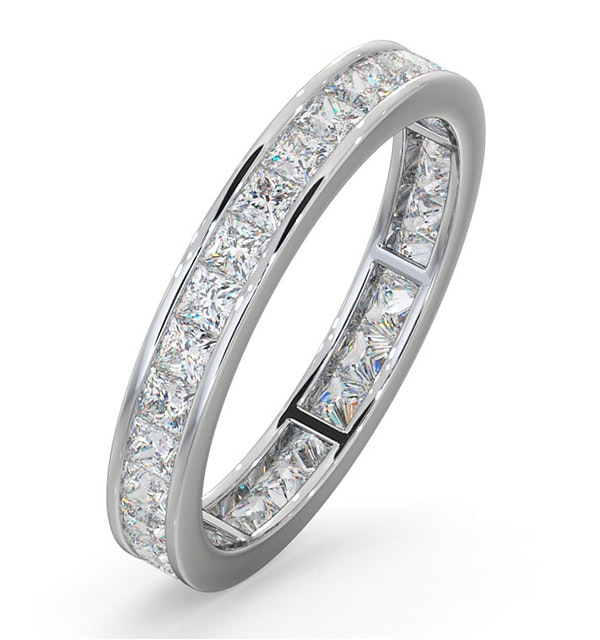 Eternity Ring Lauren Platinum Diamond 1.50ct H/Si - image 1
