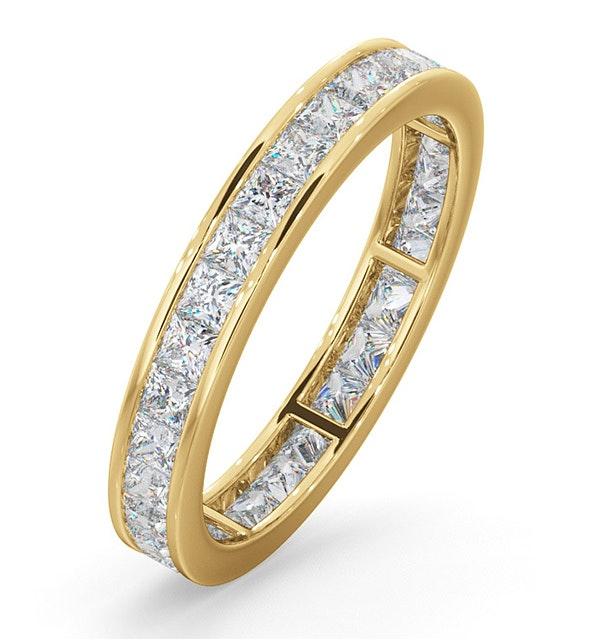 Eternity Ring Lauren 18K Gold Diamond 1.50ct G/Vs - image 1