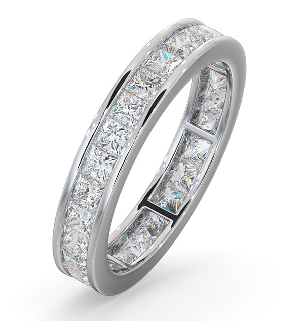 Eternity Ring Lauren 18K White Gold Diamond 2.00ct H/Si - image 1