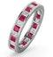 Eternity Ring Lauren Diamonds G/VS and Ruby 2.25CT - Platinum - image 1