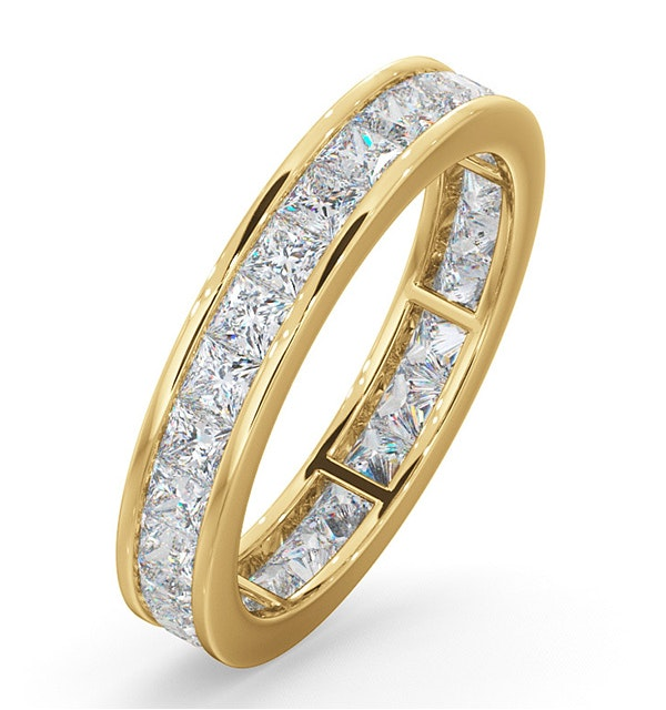 Eternity Ring Lauren 18K Gold Diamond 2.00ct G/Vs - image 1