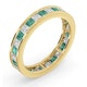 Eternity Ring Lauren Diamonds G/VS and Emerald 2.20CT in 18K Gold - image 2