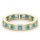 Eternity Ring Lauren Diamonds G/VS and Emerald 2.20CT in 18K Gold - image 3
