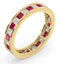 Eternity Ring Lauren Diamonds G/VS and Ruby 2.25CT in 18K Gold - image 2