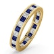 Eternity Ring Lauren Diamonds G/VS and Sapphire 2.30CT in 18K Gold - image 1