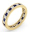 Eternity Ring Lauren Diamonds G/VS and Sapphire 2.30CT in 18K Gold - image 2