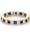 Eternity Ring Lauren Diamonds G/VS and Sapphire 2.30CT in 18K Gold - image 3