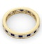 Eternity Ring Lauren Diamonds G/VS and Sapphire 2.30CT in 18K Gold - image 4