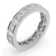 Mens 3ct G/Vs Diamond 18K White Gold Full Band Ring - image 2