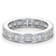 Mens 3ct G/Vs Diamond 18K White Gold Full Band Ring - image 3