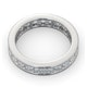 Mens 3ct G/Vs Diamond 18K White Gold Full Band Ring - image 4
