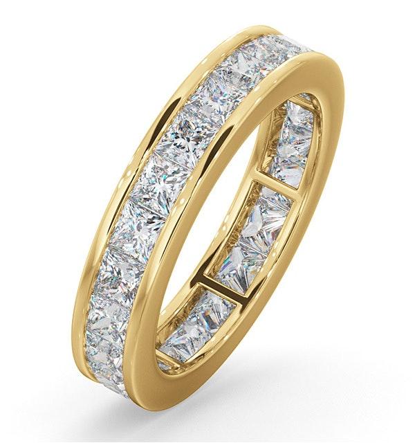 Mens 3ct H/Si Diamond 18K Gold Full Band Ring  IHG31-522JUA - image 1