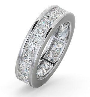 Mens 5ct H/Si Diamond Platinum Full Band Ring