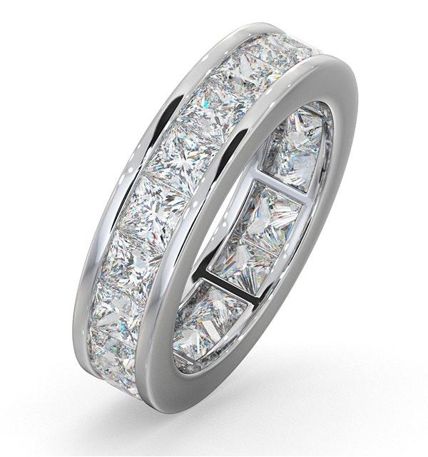 Eternity Ring Lauren 18K White Gold Diamond 5.00ct H/Si - image 1