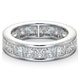 Mens 5ct G/Vs Diamond 18K White Gold Full Band Ring  IHG31-722XUY - image 3