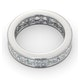 Mens 5ct G/Vs Diamond 18K White Gold Full Band Ring  IHG31-722XUY - image 4