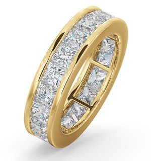 Mens 5ct G/Vs Diamond 18K Gold Full Band Ring