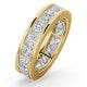 Mens 5ct H/Si Diamond 18K Gold Full Band Ring - image 1