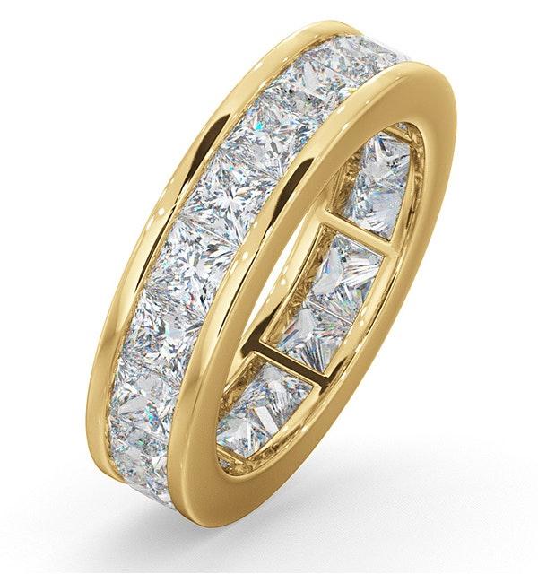 Mens 5ct G/Vs Diamond 18K Gold Full Band Ring - image 1