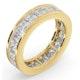 Mens 5ct H/Si Diamond 18K Gold Full Band Ring - image 2